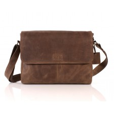 112 LEATHER MESSENGER BROWN