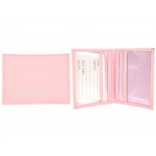 1500 BABY PINK GRAINED PU TRAVEL CARD HOLDER