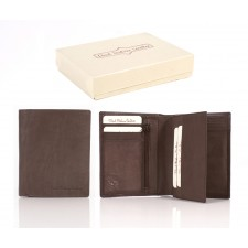 21 ITALIAN LEATHER WALLET BROWN