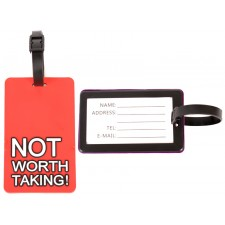 2404 RED LUGGAGE TAG