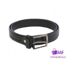 "2726-BLACK 1.25"" MILANO BELT"