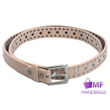 "2782 BEIGE1""LADIES BELT WITH STUDS"