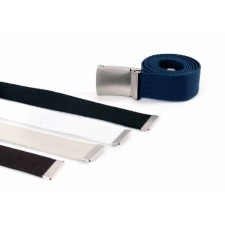 "2795 1.5""canvas belt with metal buckle & tip"