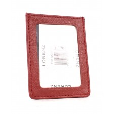 3722 RED COW HIDE TRAVEL CARD HOLDER