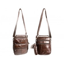 3773 COW HIDE GENTS BAG DARK BROWN