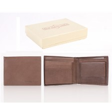 5001 ITALIAN LEATHER WALLET BROWN