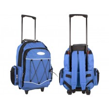 8218 BLUE WHEELED BACKPACK
