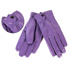 8910 PURPLE SOFT LEATHER BUTTON SMALL