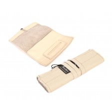 LEATHER STRING TOBACCO POUCH CREAM