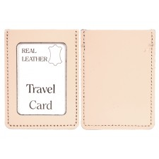PATENT BEIGE REAL LEATHER TRAVEL CARD