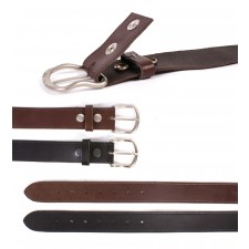"1.5"" PRESS STUD BELT M/L/XL BLACK"