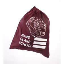 SHOE SCHOOL GYM BAG BURGANDY
