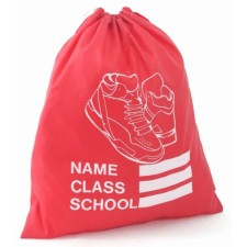 SHOE SCHOOL GYM BAG RED