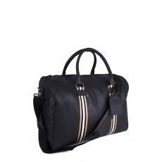 Borderline premium collection JBTB50 BLACK PU HOLDALL GYM BAG WITH ADJUSTABLE STRAP