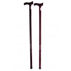 BLOOD RED WOODEN WALKING STICK 2839
