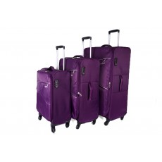 PURPLE SET OF 3, 4 360 DEGREE SWIVEL WHEEL TROLLEYS HBY-0084